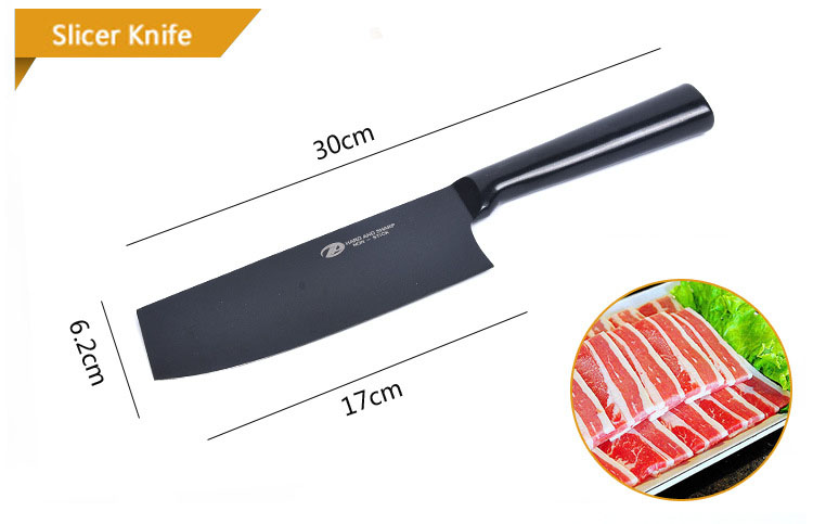 Stainless Steel Knife Set of Kitchen Knives Gift Chef Knives 6 Piece Meat Fruit Vegetable Anti-S