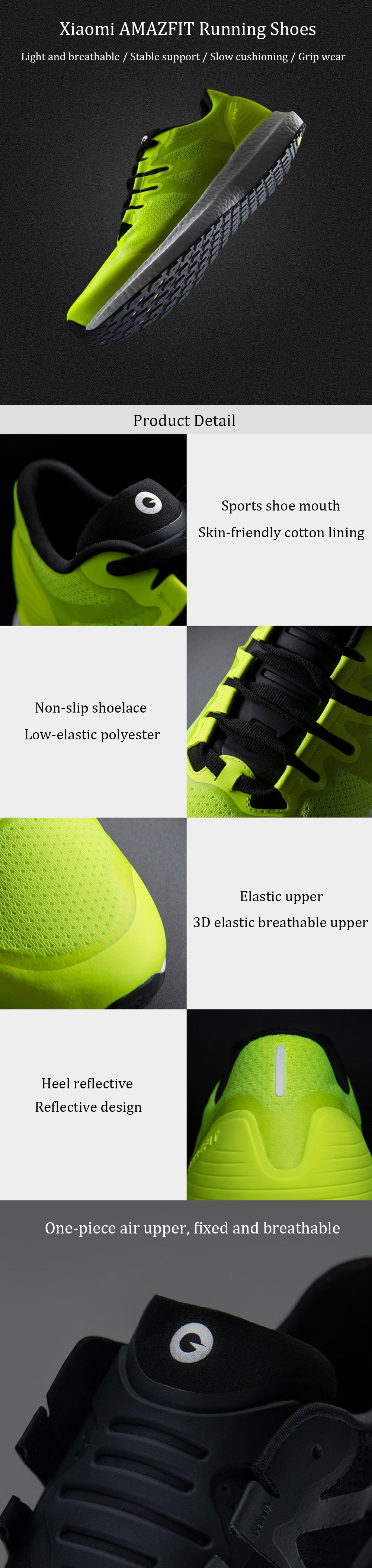 Xiaomi AMAZFIT Men Running Shoes Marathon Training Running Shoes Lightweight Breathable Anti-slip Sneakers