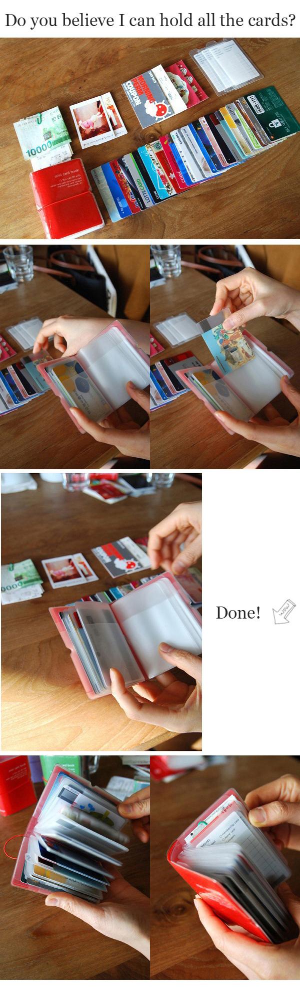 Honana HN-PB3 12 Colors Credit Card Holder 32 Card Slots Card Wallet