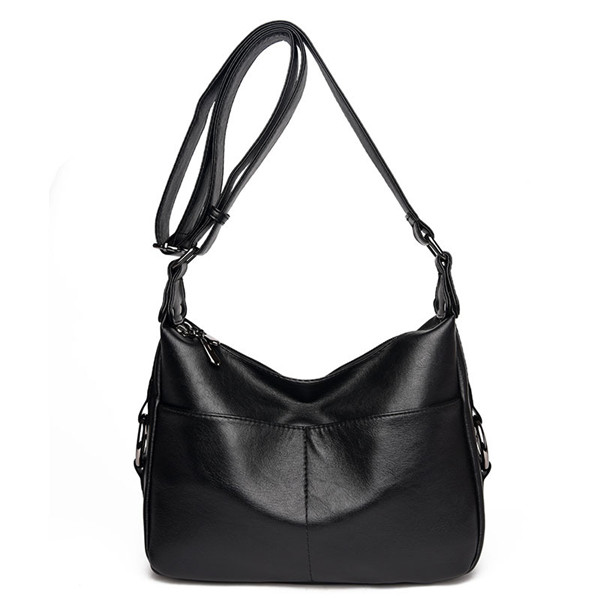 Ekphero Women PU Leather Shoulder Bags Elegant Crossbody Bags Hobo Messenger Bags
