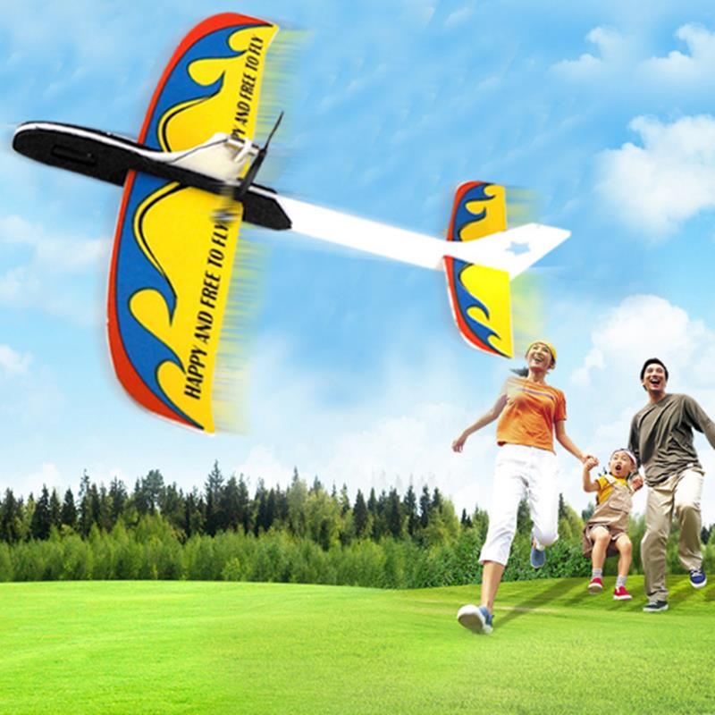 PP+EPP 295mm Wingspan Super Capacitor Electric Coreless Hand Throwing Free-flying Glider RC Airplane