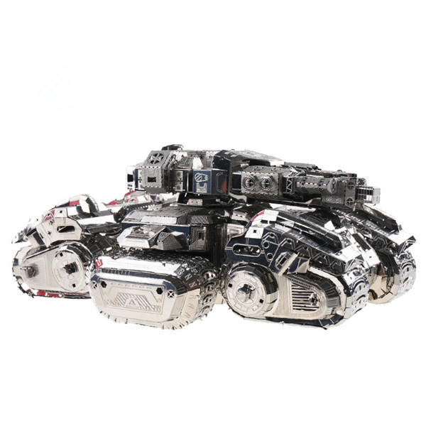 MU SAST-N01 DIY 3D Metal Tank Model Siege Tank Puzzle Collection Silver Color 150*100*60mm