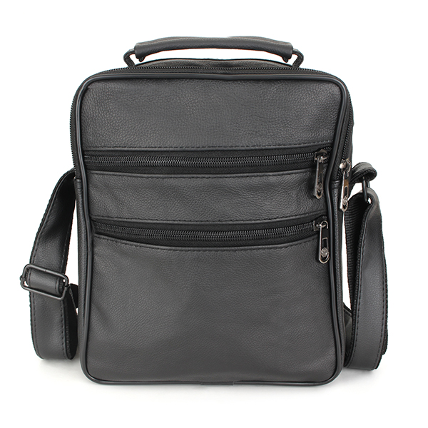 Men's Genuine Leather Outdoor Leisure Crossbody Bag Business Handbag