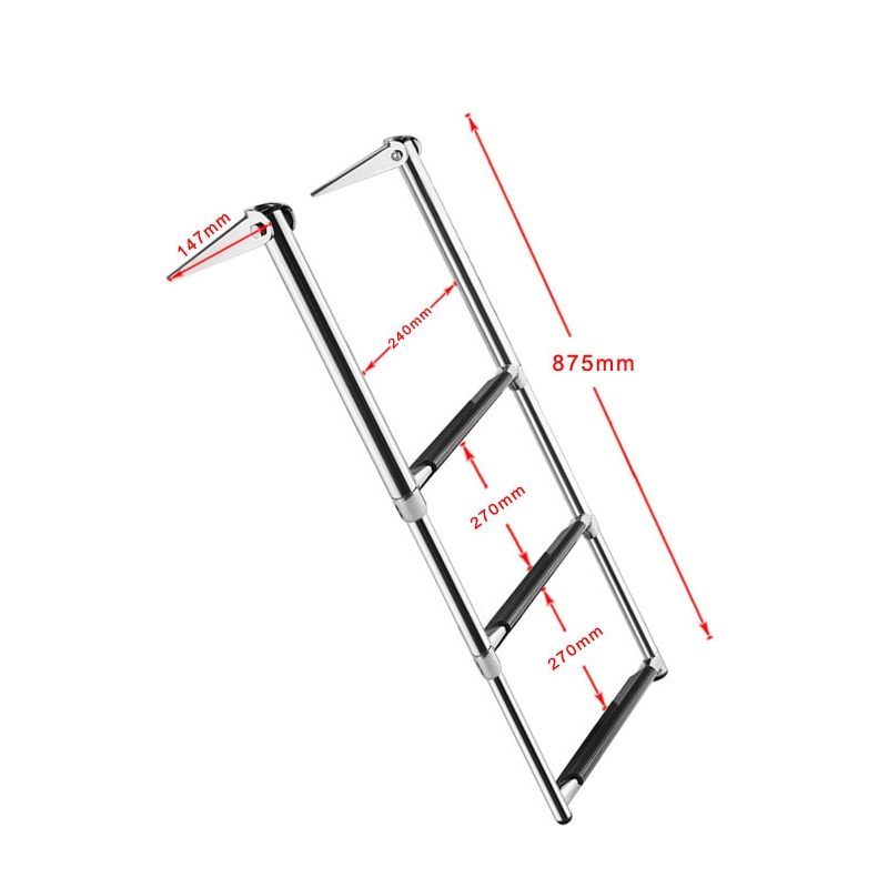 BSET MATEL Retractable 3 Steps Ladder Boat Stainless Steel 304 Telescoping Deck Outboard Swim Platform Folding Marine Yacht Accessories