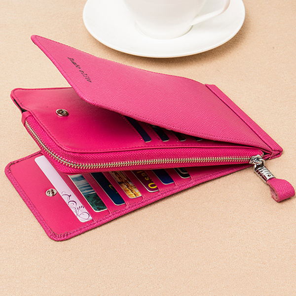 Women Genuine Leather 26 Card Purse Elegant Multi Card Holder Phone Wallets Coin Bags