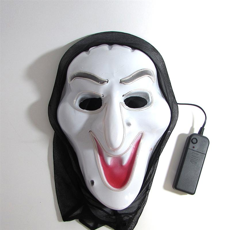 Halloween Witch Mask LED Witch Mask Cold Light Halloween Mask for Cosplay Costume Halloween Party