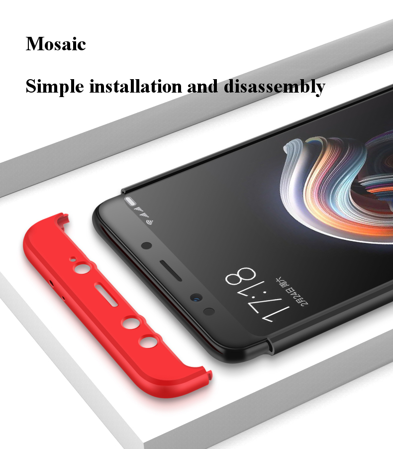 Bakeey™ 3 in 1 Double Dip 360° Full Protection PC Protective Case For Xiaomi Mi A2 /Xiaomi Mi 6X