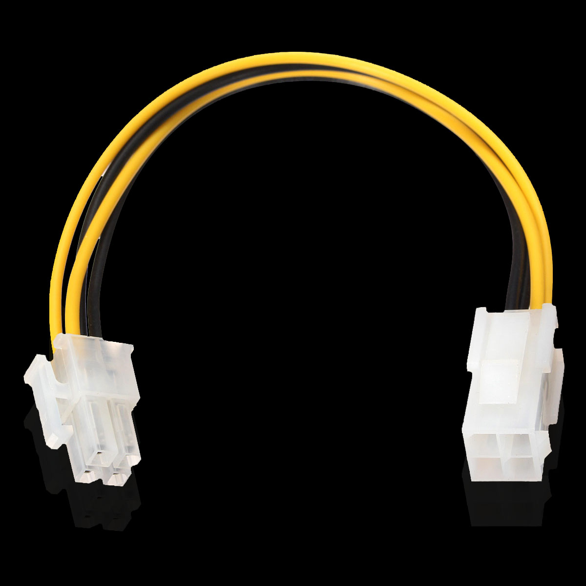8 Inch 20cm ATX 4 Pin Male to Female Power Supply Cable Cord Connector Adapter