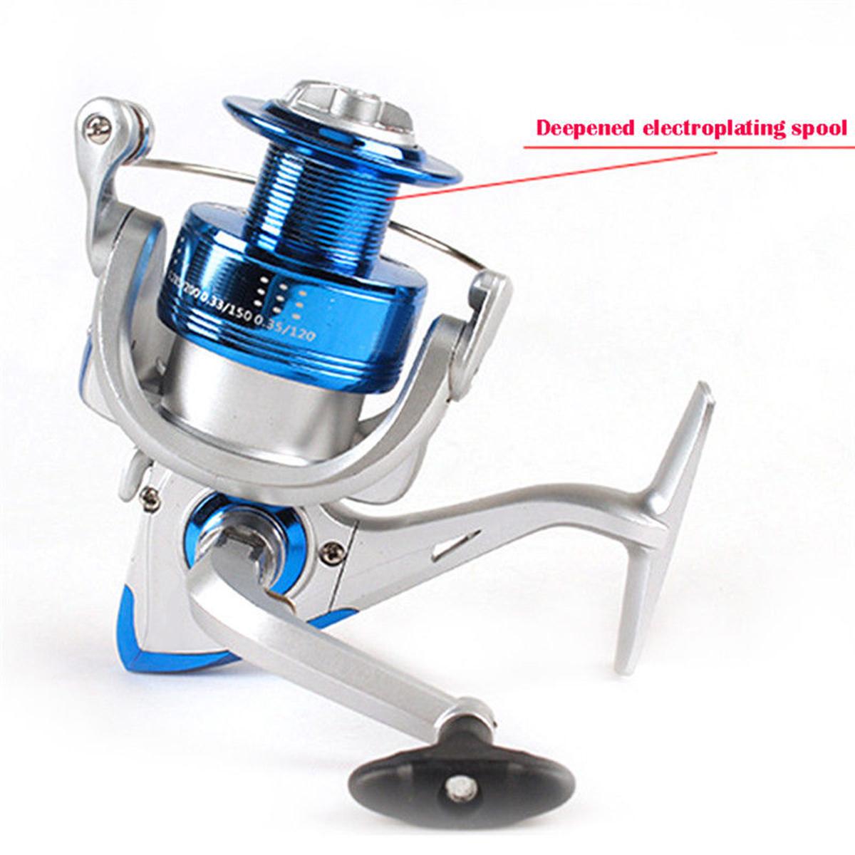 ZANLURE CF1000-7000 5.2:1 12BB Metal Spinning Fishing Reel Saltwater Freshwater Fishing Wheel