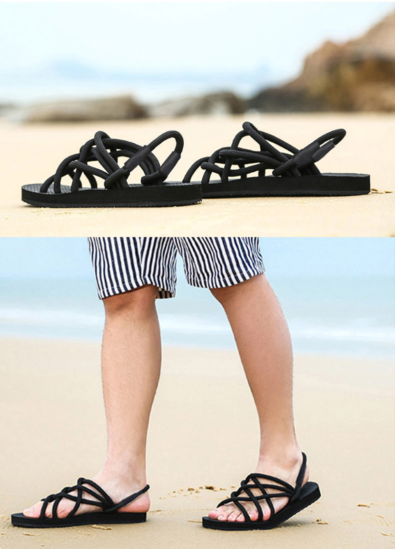 US Size 7.5-10 Outdooors Summer Cooler Slippers Non-slip Casual Dual Use Word Beach Couple Shoes