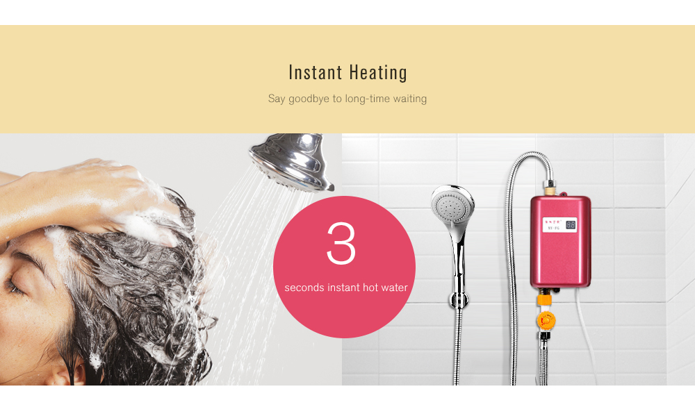 Mini Instant Hot Smart Water Heater Easy Installation for Kitchen Bathroom