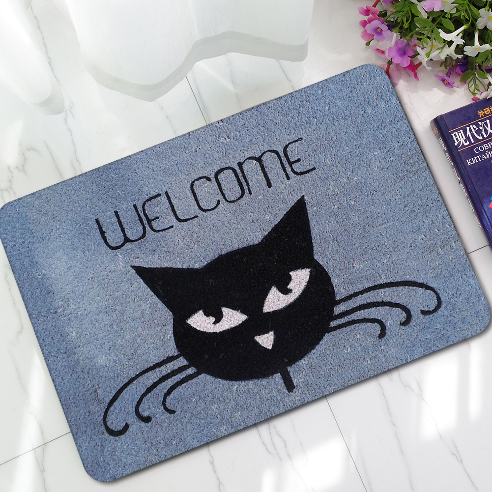 Honana BM-170 Home Stones Bathroom Doormat Rubber Anti-Slip Shower Toilet Mats Bathroom Floor Rug