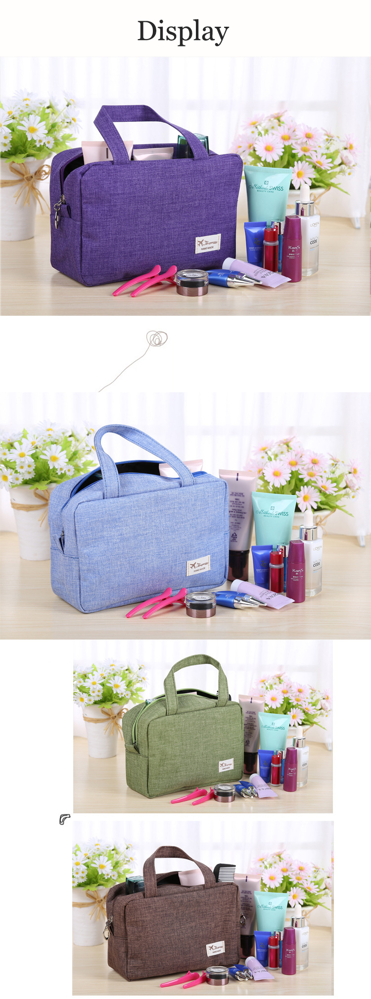 52ea2f9ba6ef Honana HN-TB13 Travel Toiletry Organizer Large Cosmetic Shaving Kit Storage  Bags