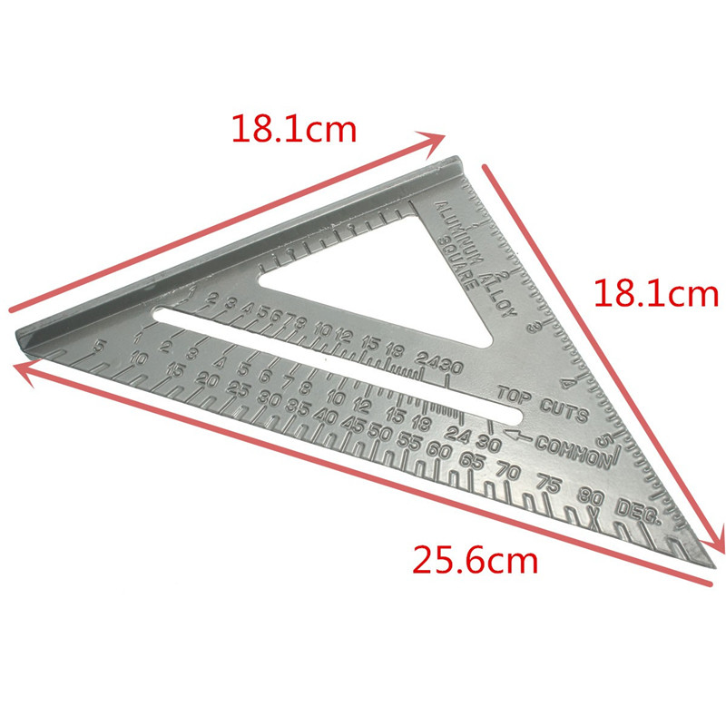 6inch New Aluminum Alloy Square Measuring Tool Use As Protractor Miter Framing Square
