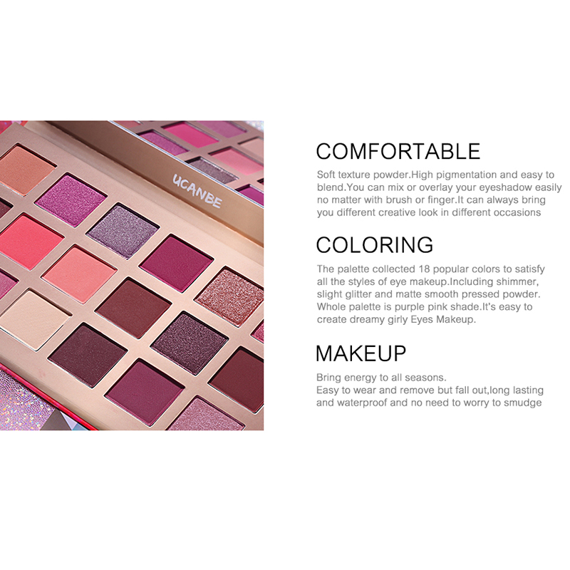 18 Colors Pink Peach Blossom Eye Shadow Palette