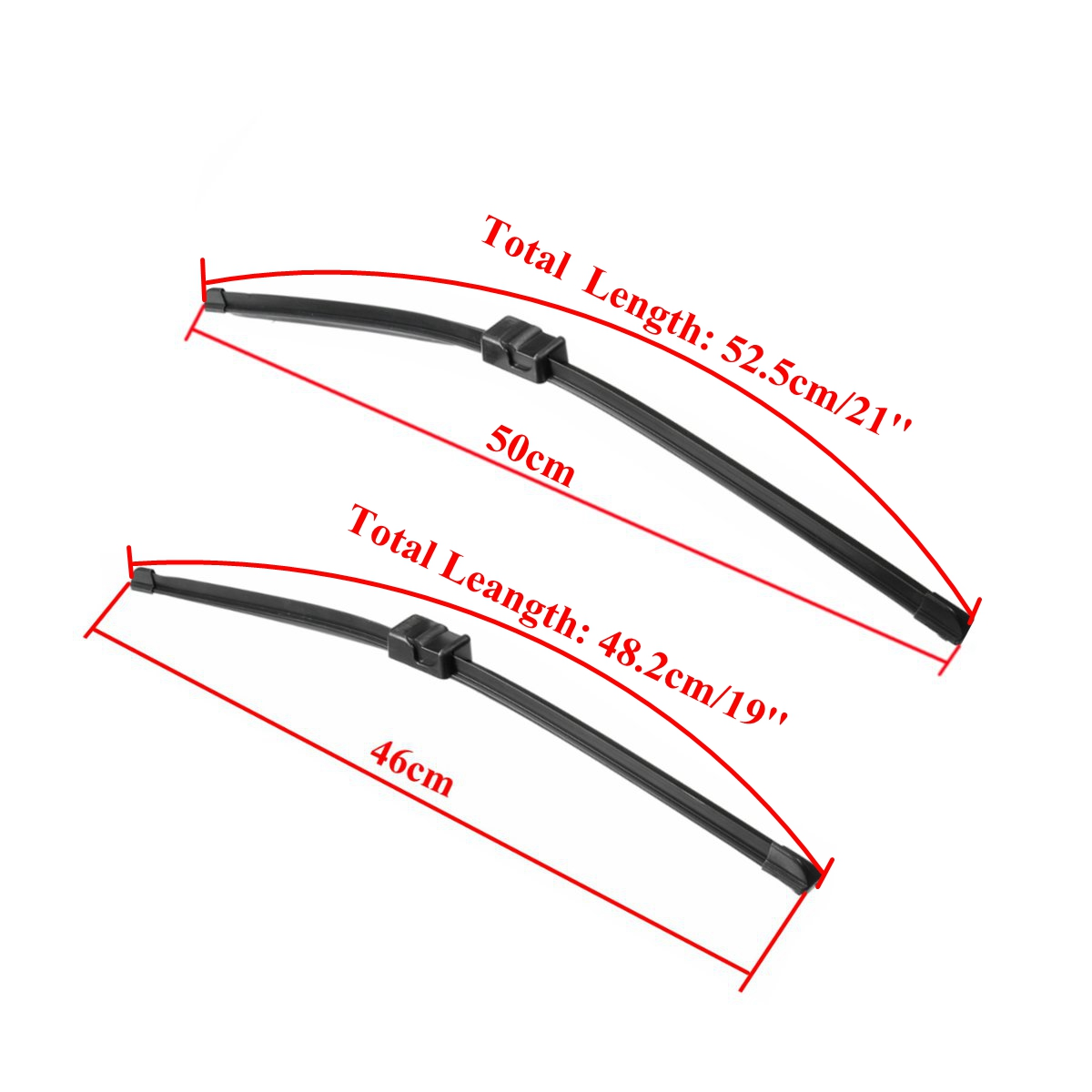 Pair Front Wiper Blades Right Hand Driver For VW PASSAT 2005-2011