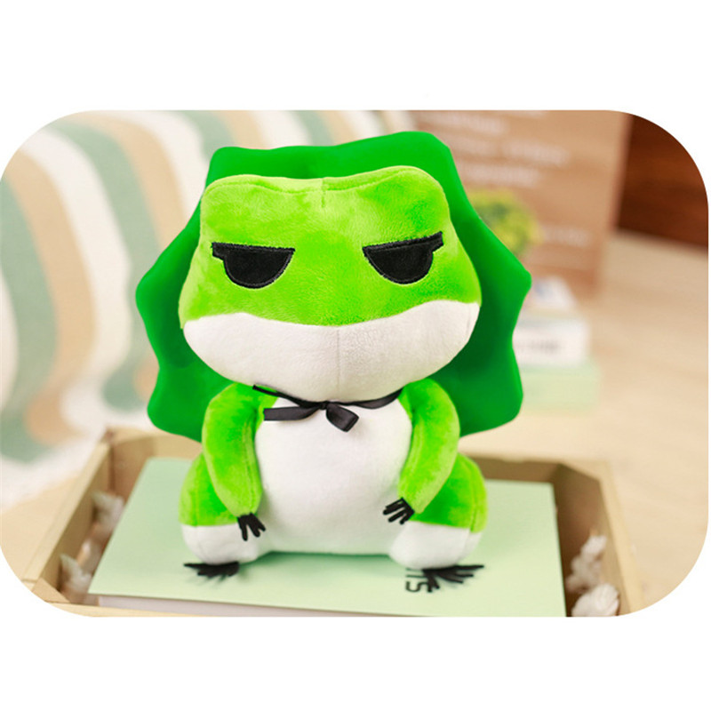 15 Inches Stuffed Plush Toy Travel Frog Cute Animal Doll Toy Keychain Dango Accessory