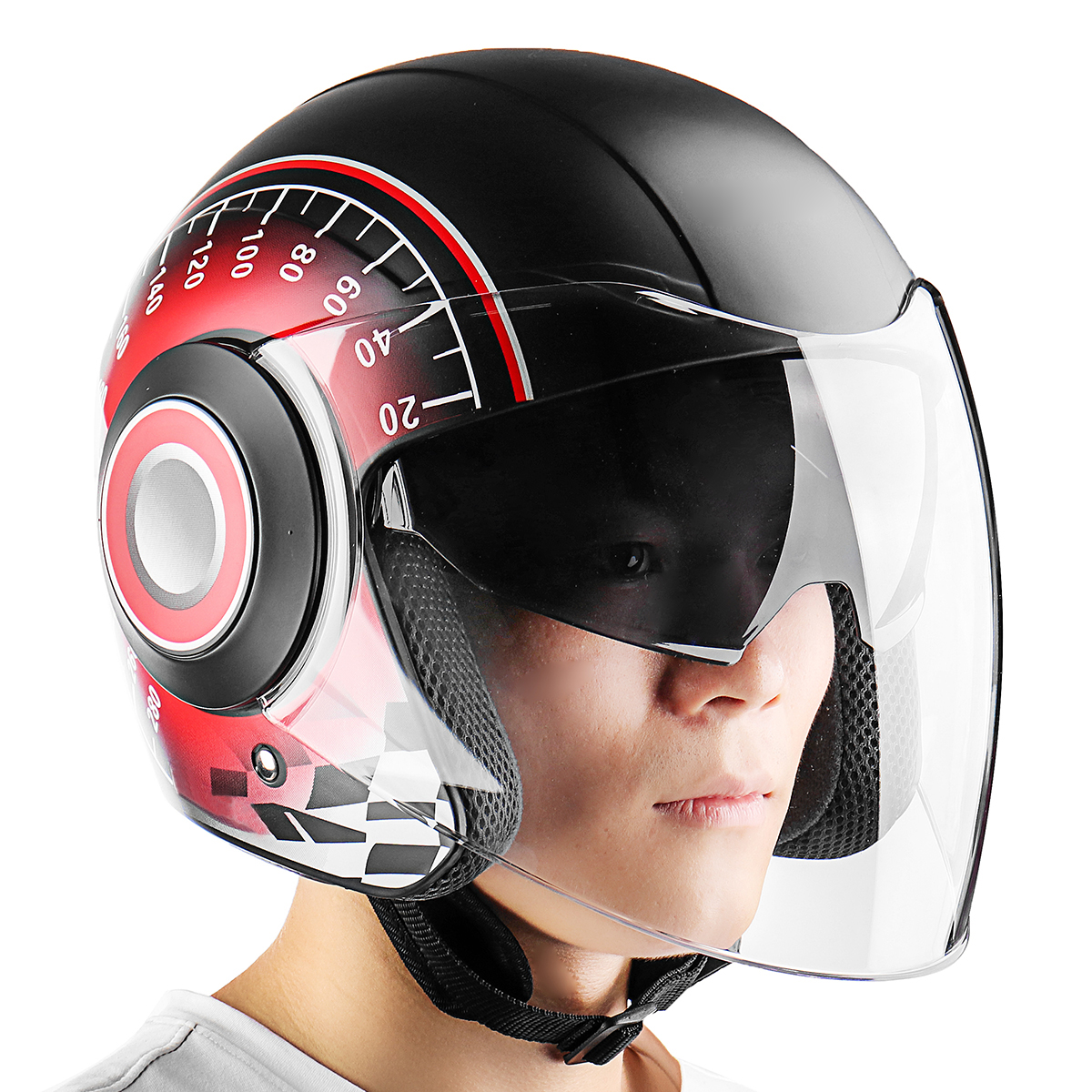 6 Colors Double Lens Full Face Helmet Scooter Motorcycle Anti-scratch Visor Helmets