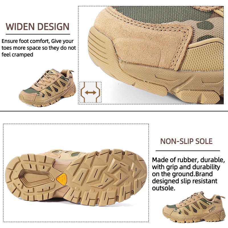 Mens Oxford Military Tactical Shoes Camouflage Cordura Desert Combat Army Hiking Sneakers
