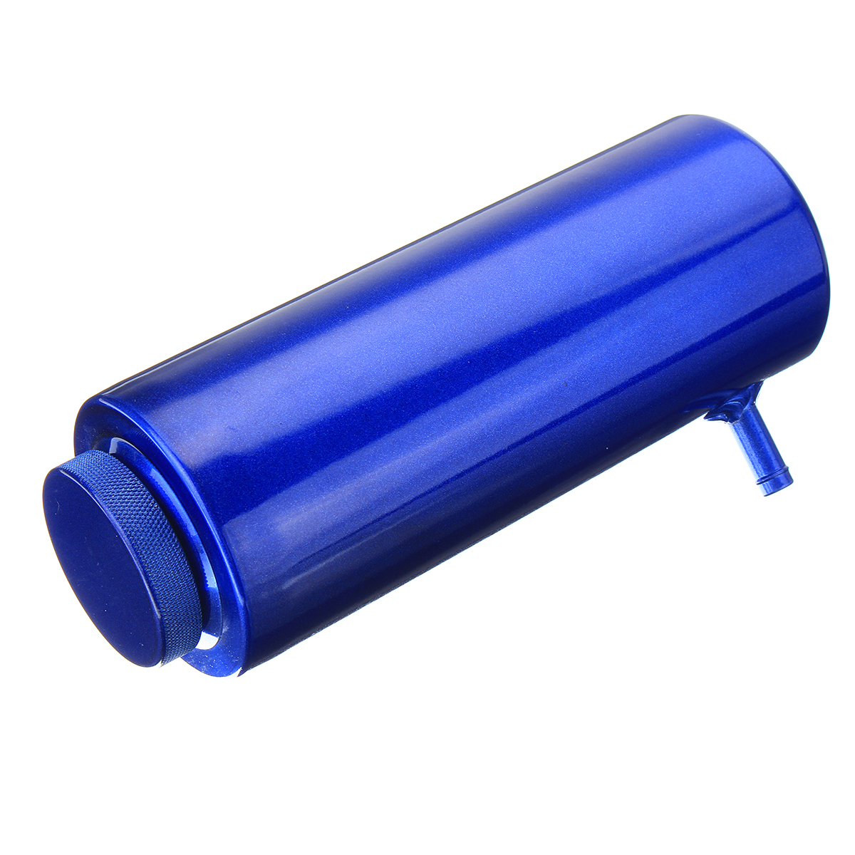 800ml Cylinder Radiator Overflow Reservoir Coolant Tank Black/Blue Aluminum Can