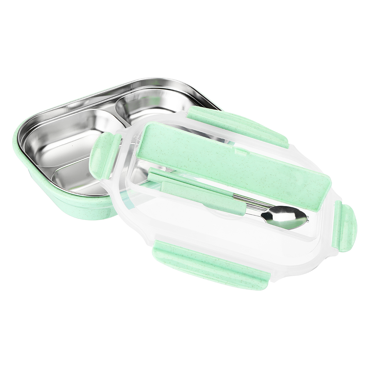 Portable Stainless Steel Insulated Lunch Box Bento Food Container Thermal Case