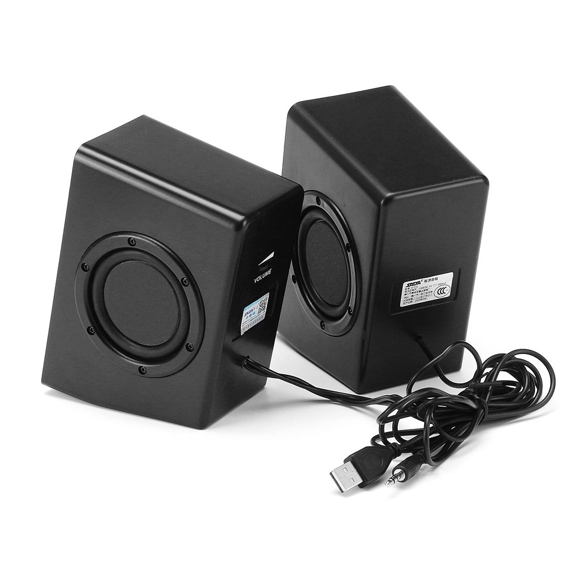 SADA V-15 Computer Speaker 2PCS Portable Wired Speakers Stereo Bass Home Soundbar