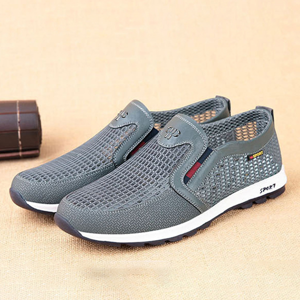 Men Casual Old Peking Style Mesh Sneakers