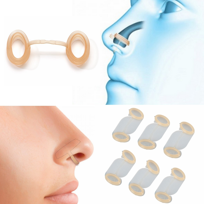 6pcs Silicone Open Airway Snore Stopper Anti Snoring Breathe Better Increase Airflow Sleep Aid