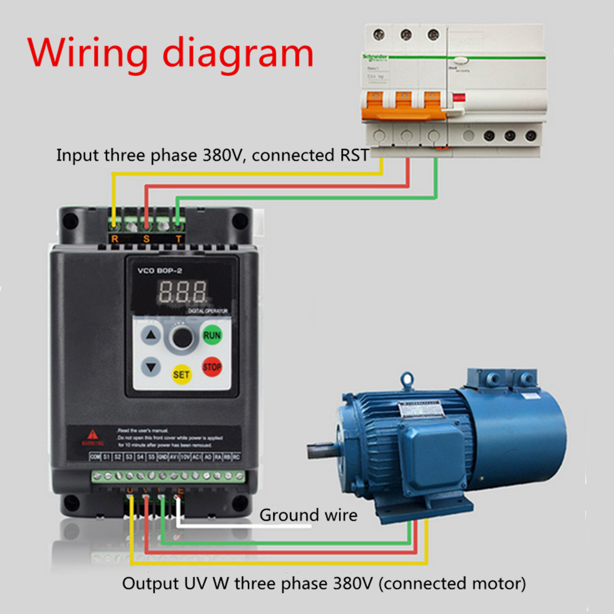 1 5kw 380v 3 Phase Vfd Variable Frequency Inverter Motor