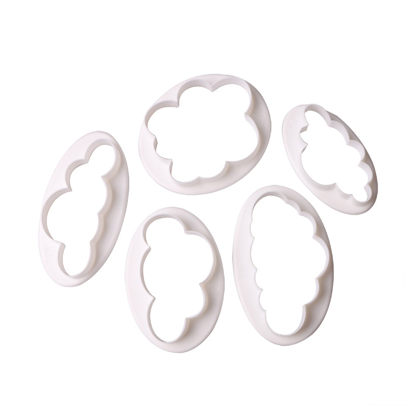 5pcs Fondant Cutter Cloud Plastic Cake Cookie Biscuit Cutter Fondant Cake Baking Mold Decorating Tools Sugarcraft