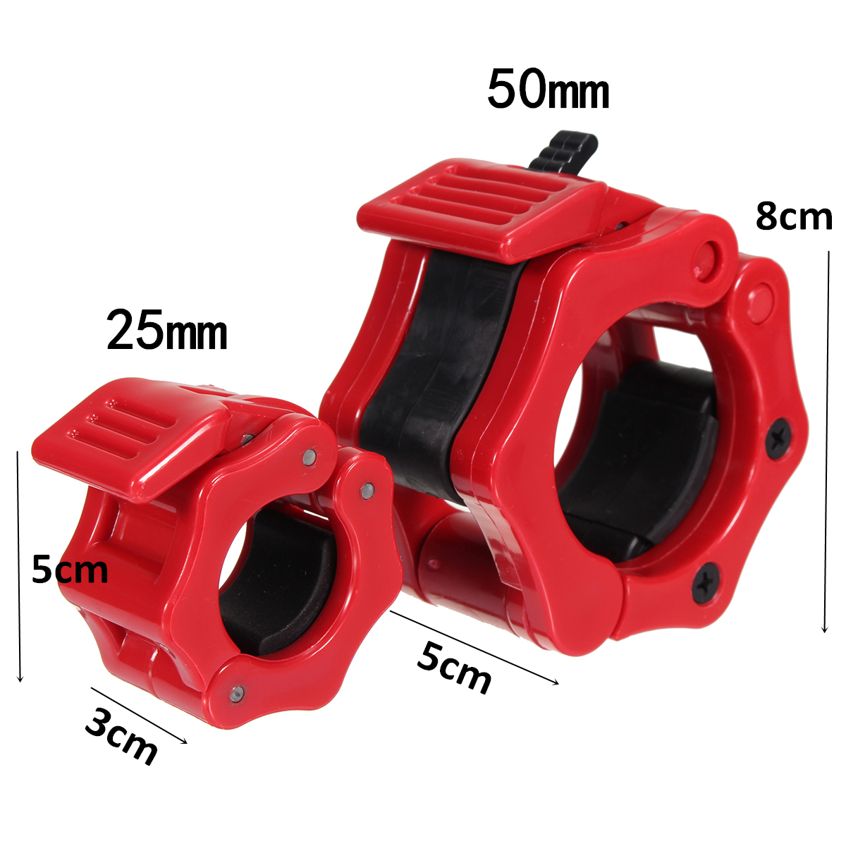 25/50mm Olympic Barbell Lock Clamp Collar Clip Dumbbell Spinlock