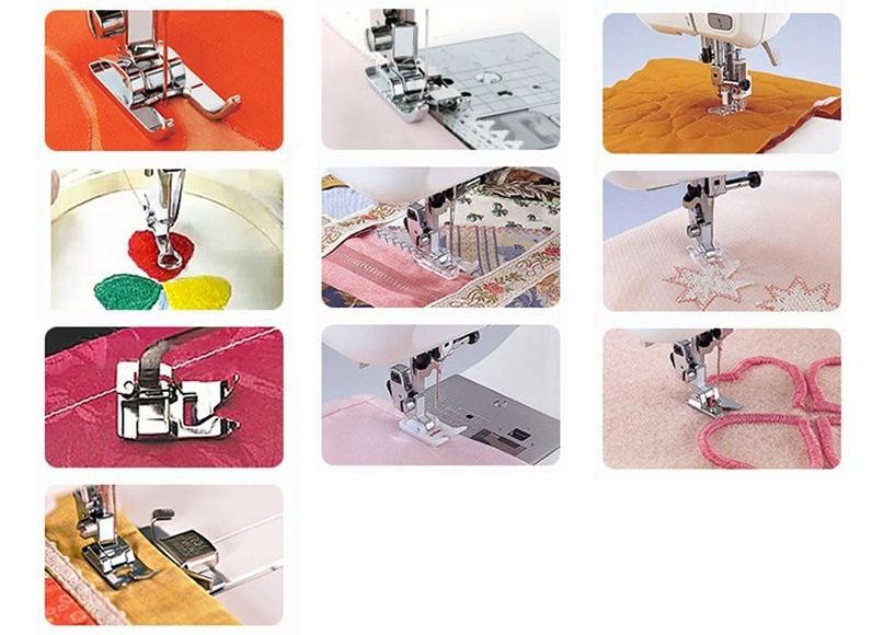 KCASA 32pcs Domestic Sewing Machine Presser Foot Feet Kit Set With Box For Brother Singer Janom