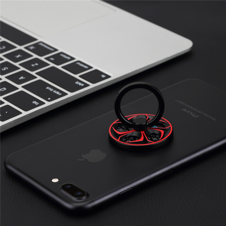 ROCK Metal High Speed Fidget Spinner Finger Ring Phone Holder Desktop Kickstand for Samsung Xiaomi