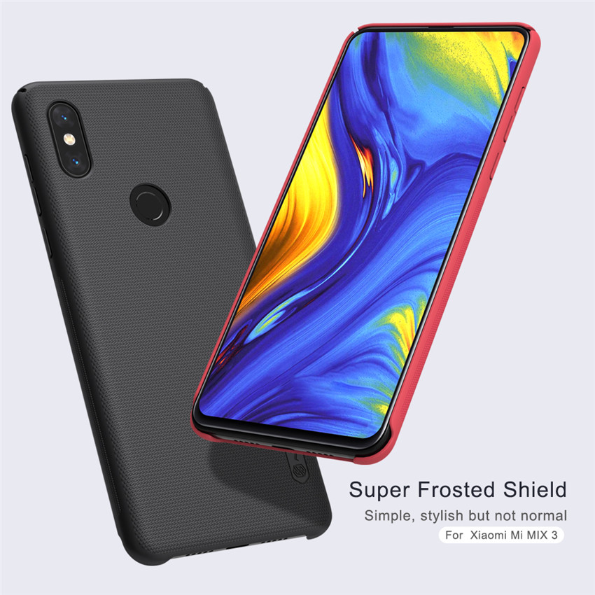 NILLKIN Frosted Shockproof Hard PC Back Cover Protective Case for Xiaomi Mi MIX 3