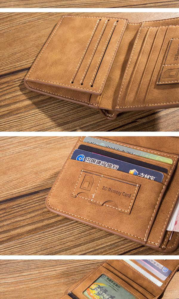 Men Multi Card Slots Slim Wallet Card Holder