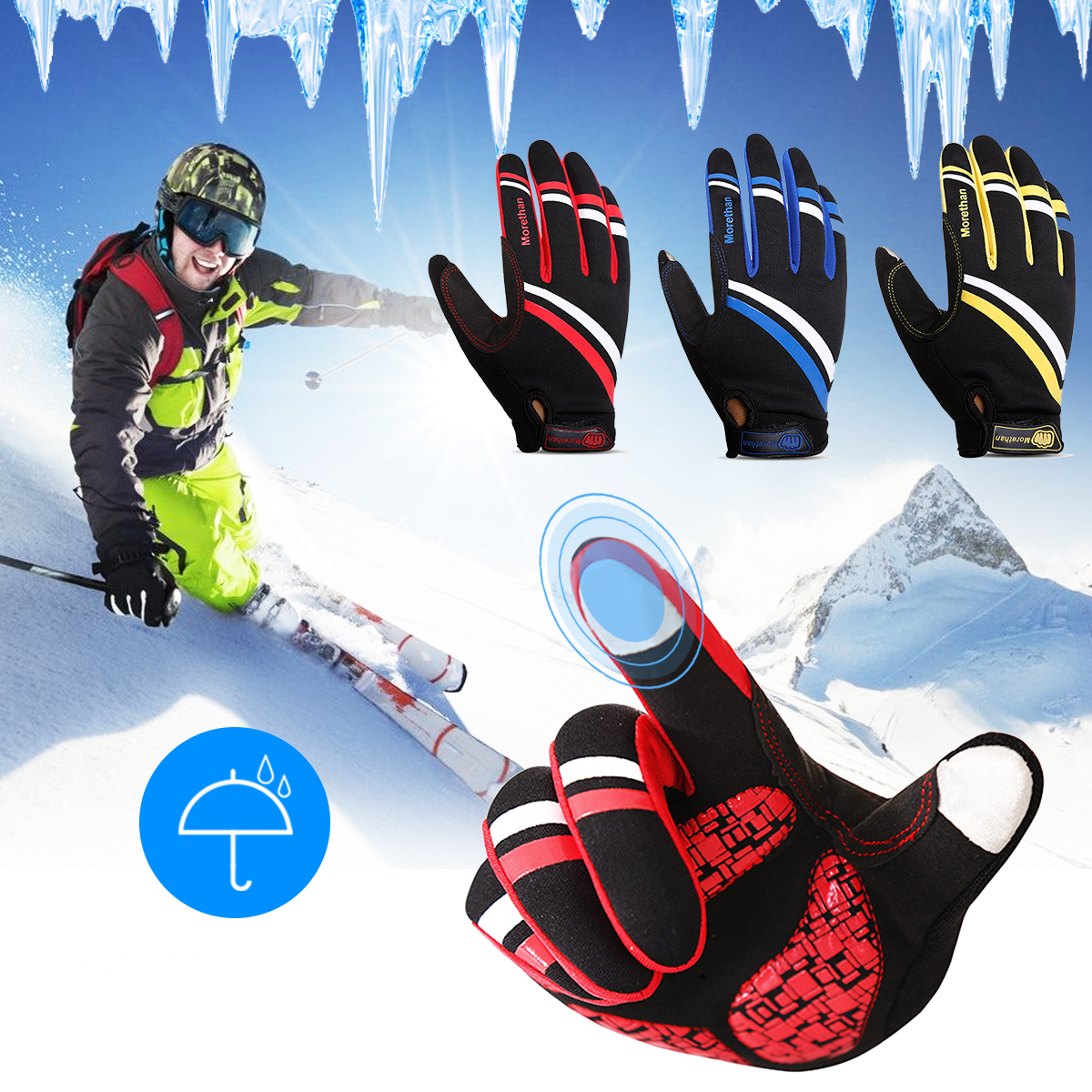 Men Woman Skiing Hiking Ride Camping Glove Winter Outdoor Touch Screen Windproof Gloves
