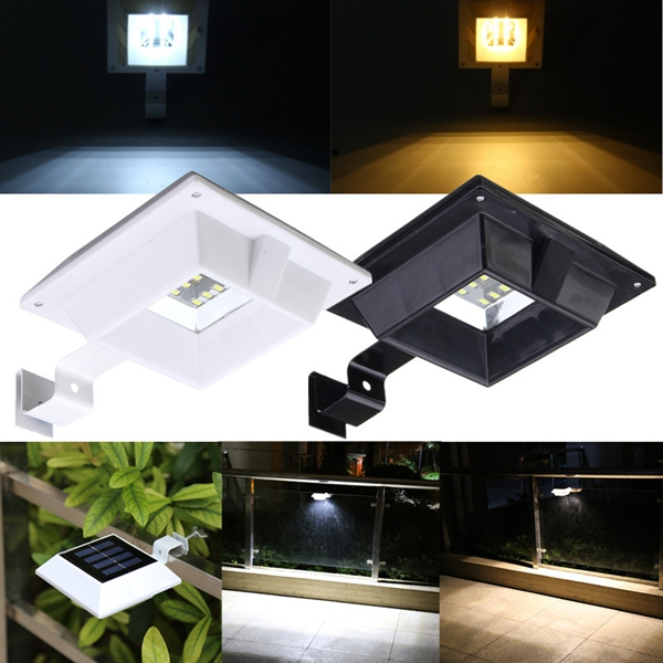 Waterproof LED Solar Power Light Control Sensor Wall Lamp Outdoor Security Fence Light