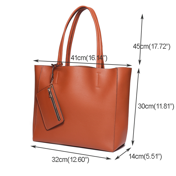 Ladies Trend Handbag Messenger Bag Simple Bucket Bag Shoulde