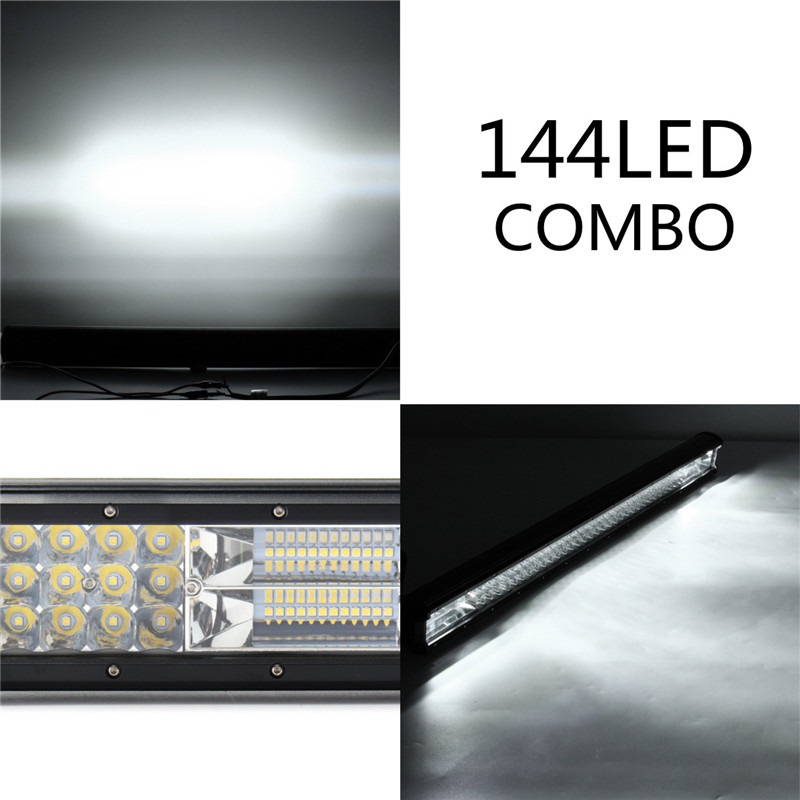 32 Inch LED Work Light Bars Flood Spot Combo Beam 432W 36000LM 10-30V for Off Road Truck Trailer