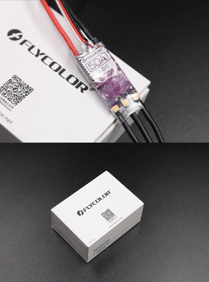 Flycolor Francy BLHeli_32 32-Bit Dshot1200 20A 3-6S ESC BEC w/LED for RC Airplane FPV RC Drone - Photo: 3