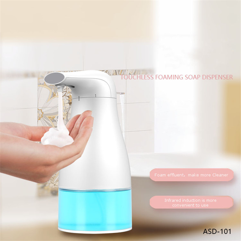 KCASA Infrared Automatic Foam Soap Dispenser Touchless Smart Sensor Sanitizer White Soap Dispenser