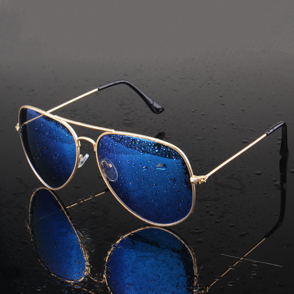 Men Retro Sunglasses Sports Polarized Fishing Golf Blue Lens Glasses