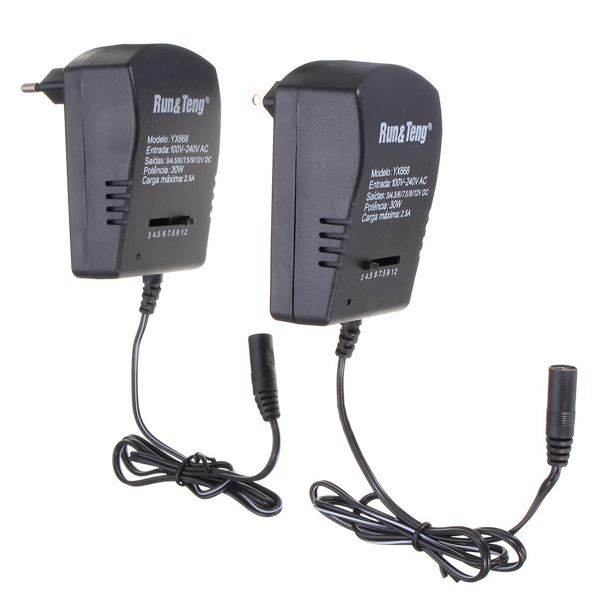 Multi Voltage Power Adapter 2500mA 3v 4.5v 6v 9v 12v DC Power Supply