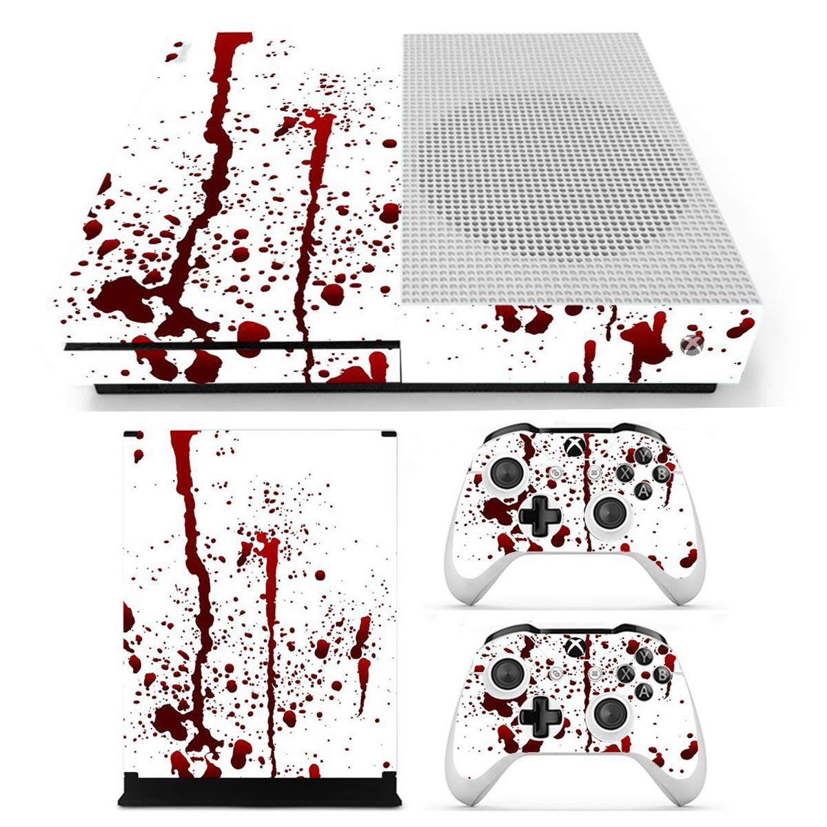 Bloody Skin Decals Stickers Cover for Xbox One S Game C