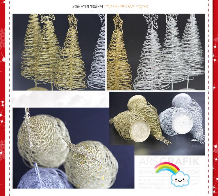Regali di Natale di decorazione della scrivania dell'ornamento dell'argento dell'oro dell'albero di Natale dell'albero di Natale di Natale 2017 mini