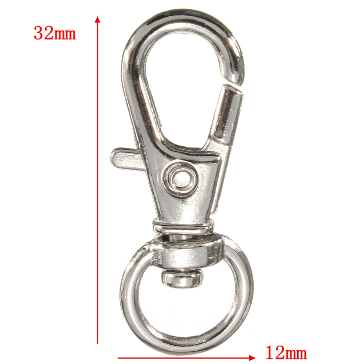 10Pcs 30x10mm Silver Copper Plated Lobster Clasp Keychain Snap Hook Lobster Clasps Hooks