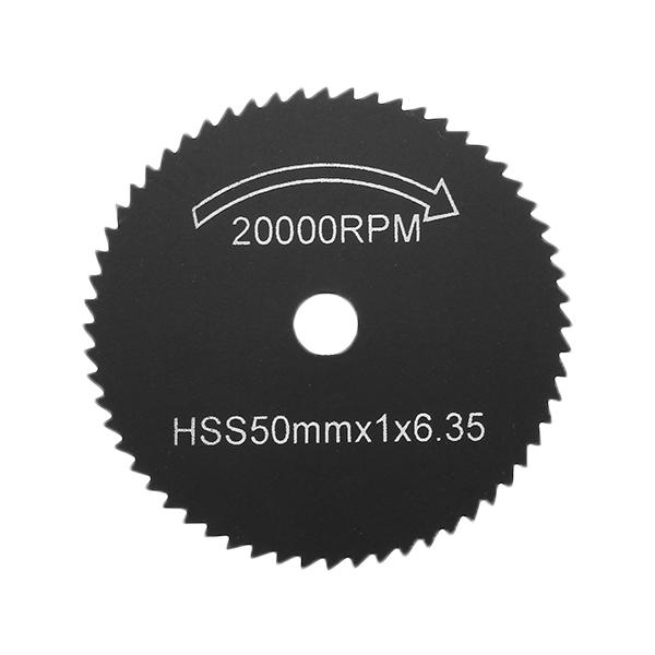 7pcs Black HSS Saw Blades Cutting Discs Mandrel Cutter Rotary Tool