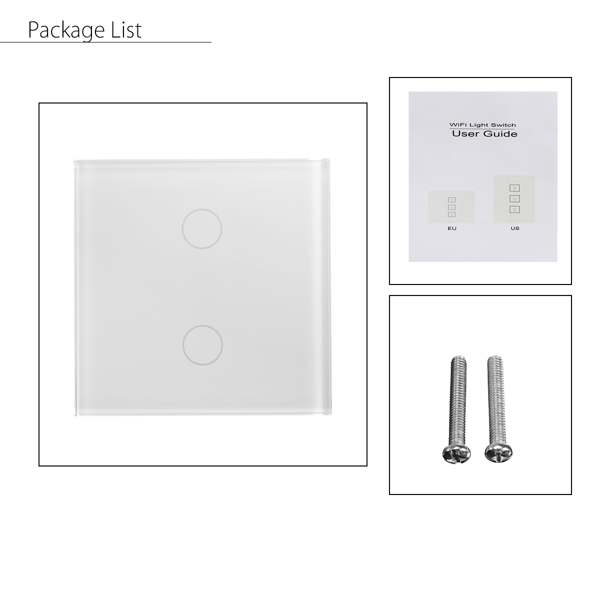 Zigbee Smart Switch WiFi APP Touch Control Wall Light Switch 1 2 3 Gang 86 Type UK Panel Smart Home