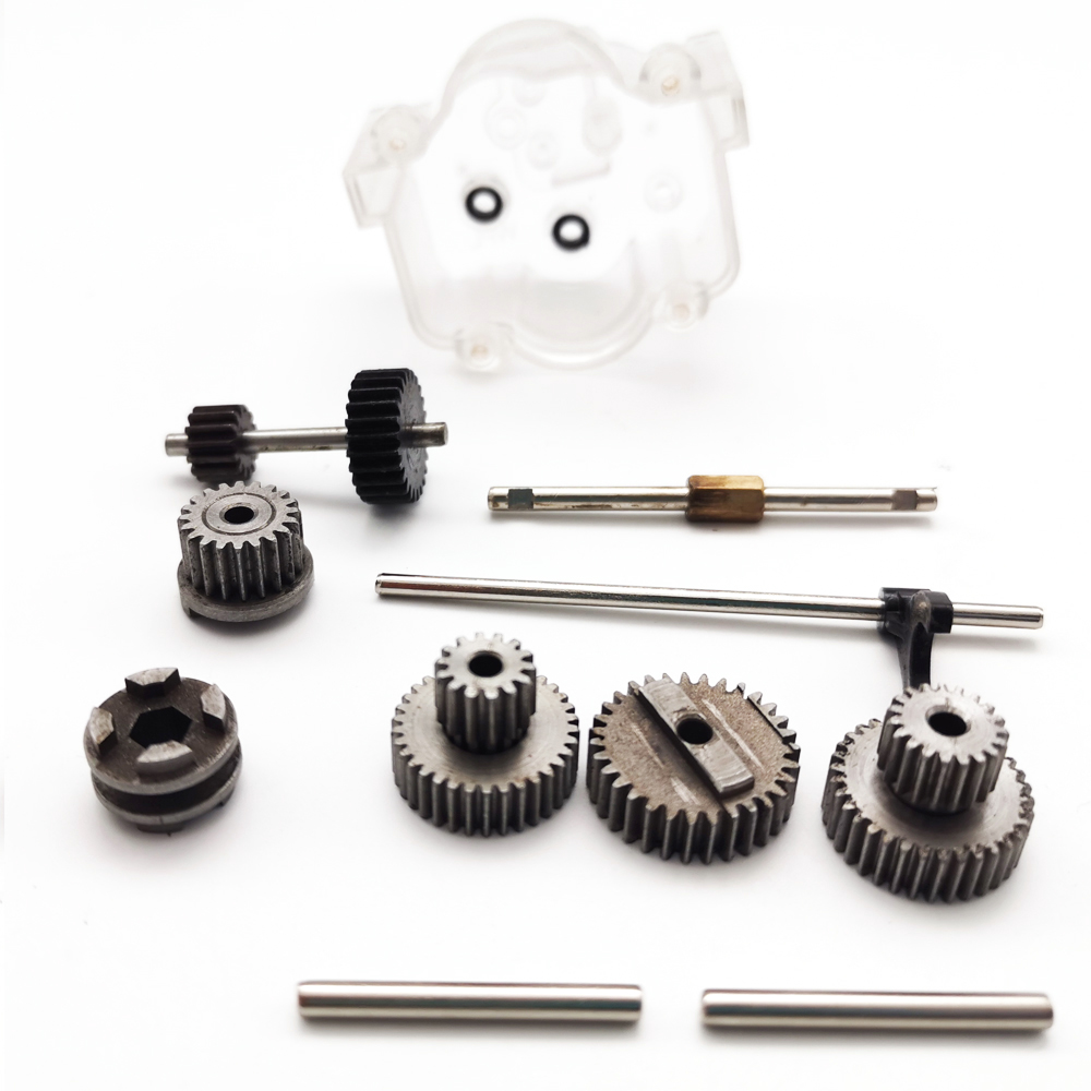 WPL 1Set Original Metal Gears With Speed Change Gear Box For B1 B24 B16 B36 C24 1/16 4WD 6WD Rc Car Parts