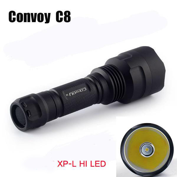 Convoy C8 Xp-l Hi 7135*6 Integrated Head Long Range LED Flashlight